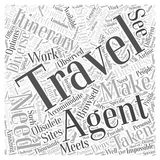 Are Travel Agents Obsolete word cloud concept  background Stock Photo