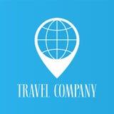 Travel agents vector logo, symbol Royalty Free Stock Image