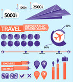 Travel / Air Plane Infographic design elements Stock Images