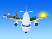 Travel airplane Royalty Free Stock Images