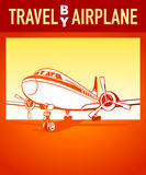 Travel by airplane Stock Image