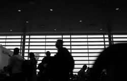 Travel airport. Passenger in airport. some Shots with cookin diffusion filter Royalty Free Stock Images
