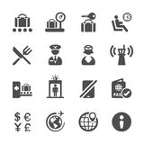 Travel and airport icon set 2, vector eps10 Stock Photography