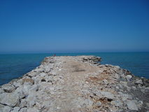 Travel Albania Durres region in Adriatic royalty free stock image