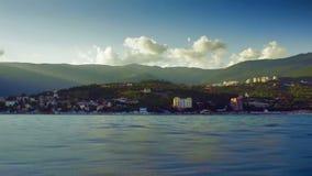 Travel along Crimea coast stock video footage