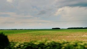 Travel along the picturesque countryside of Hungary. View from car window stock video footage