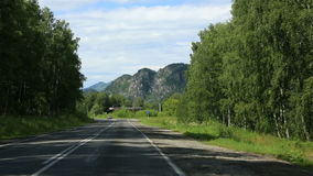 Travel along the roads of the Altai Krai. stock video footage