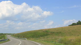 Travel along the scenic Altai Krai. (new road Belokurikha - Biysk). Russia stock video