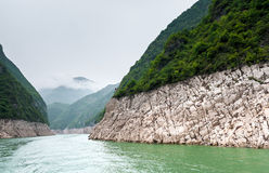 Travel along the Yangtze with a mountain view Stock Photos