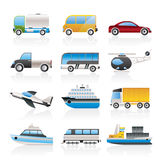 Travel And Transportation Icons Royalty Free Stock Images