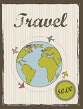 Travel annoucement Royalty Free Stock Photos