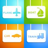Travel applique background. Vector illustration Stock Images
