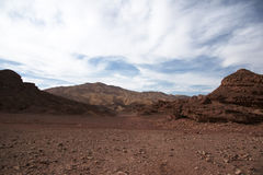 Travel in Arava desert. Timna geological park for tourists in Israel Stock Photography