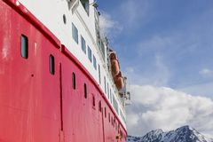 Travel in the Arctic with a expedition vessel, Svalbard, Norway Stock Photos