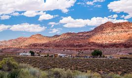 Travel around Arizona, USA. The desert landscape of the Navajo reservation Stock Photography
