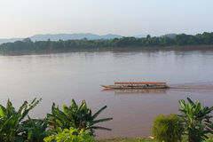 Travel around chiang khan Loei,The important water resources are the Mekong river Stock Image