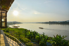 Travel around chiang khan Loei,The important water resources are the Mekong river Royalty Free Stock Images