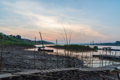 Travel around chiang khan Loei,The important water resources are the Mekong river Royalty Free Stock Photography