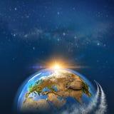 Travel around the Earth stock illustration