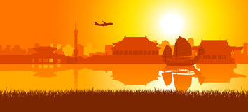 Travel Around East Asia royalty free illustration