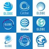 Globe logo set Stock Photos