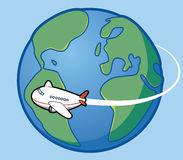 Travel around the world. Vector Travel around the world Royalty Free Illustration