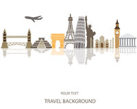 Travel around the world background Stock Photography