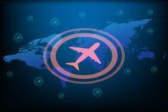 Travel around the world concept design stock illustration