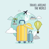 Travel around the world concept Stock Photos