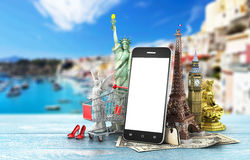 Travel around the world concept. Stock Photo