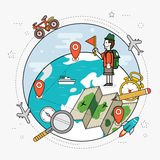 Travel around the world concept Royalty Free Stock Image