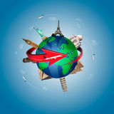 Travel around the world concept Stock Image