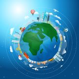 Travel around the world concept Stock Images