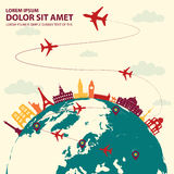 Travel around the world. Destination royalty free illustration