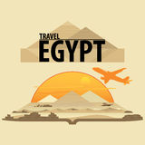 Travel around the world Egypt. Vector Royalty Free Stock Photo