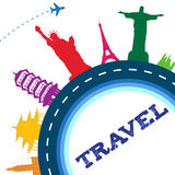 Travel around the world Stock Images