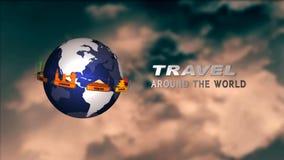 Travel around the world stock footage