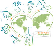 Travel around the world (icons) Stock Image