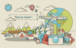 Travel around the world Royalty Free Stock Image