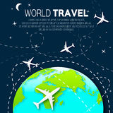 Travel around the World map background . Royalty Free Stock Image