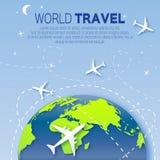 Travel around the World map background . Royalty Free Stock Photos