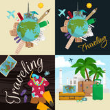 Travel around the world poster. Royalty Free Stock Photo
