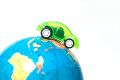 Travel around the world, traveling by car concept creative map Royalty Free Stock Photos