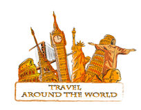 Travel around the world,vector Royalty Free Stock Image