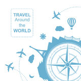 Travel around the world vector illustration Royalty Free Stock Photography