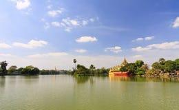 Travel Asia: Karaweik palace in Yangon, Myanmar Stock Photos