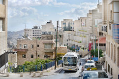 Travel and attractions of the Middle East. Streets and architecture of the city of Bethlehem. Royalty Free Stock Photography
