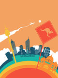 Travel australia world landmark landscape Stock Image