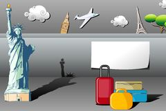Travel Background vector illustration