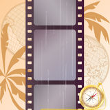 Travel background. Travel vector film strip background (EPS 10 royalty free illustration